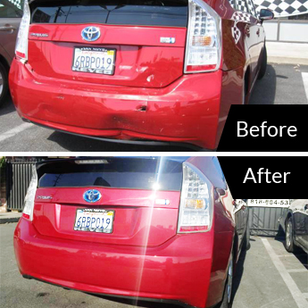 Car Damage Repair Before and After